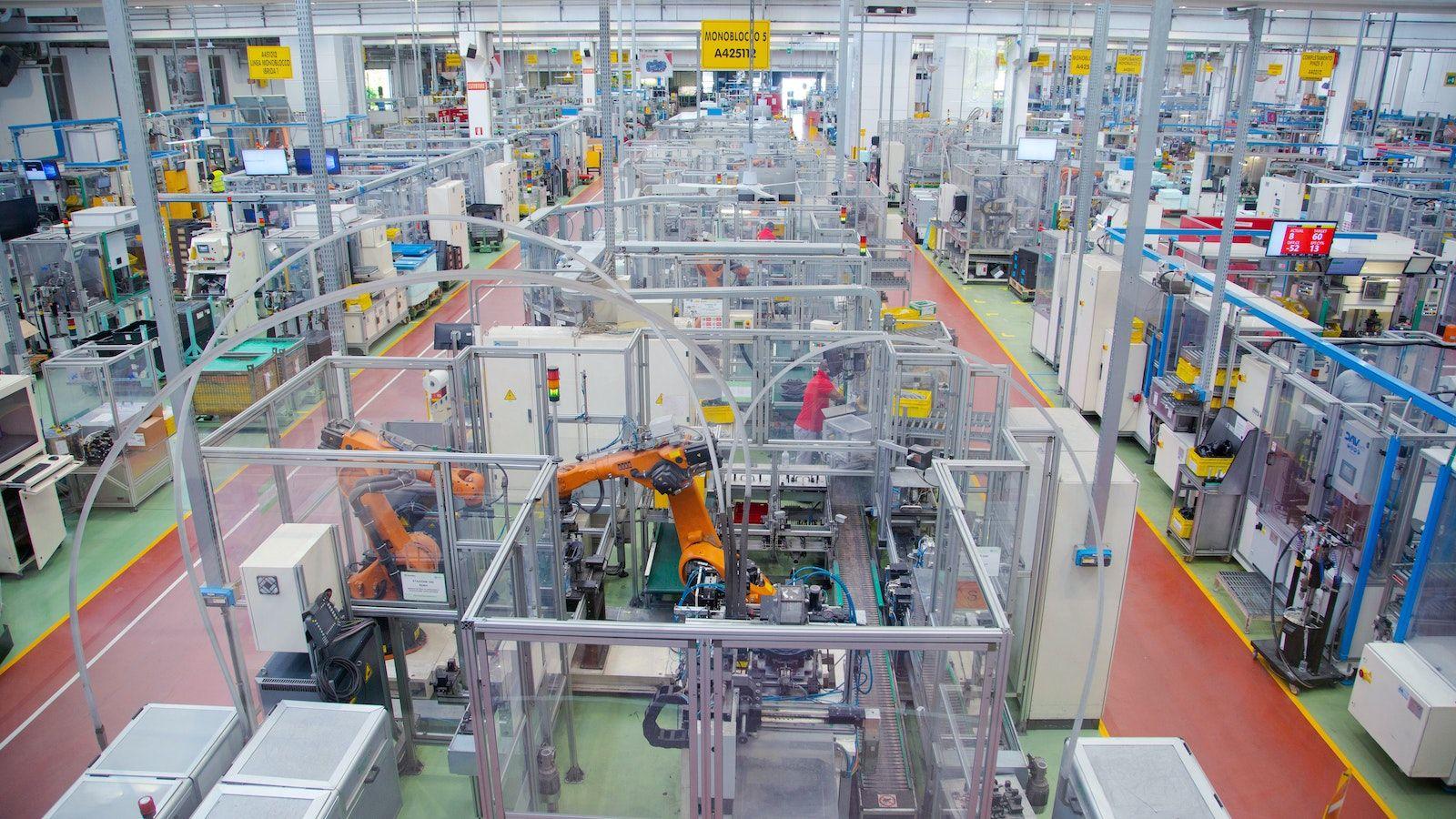 Site de production de Brembo à Bergame, en Italie.
