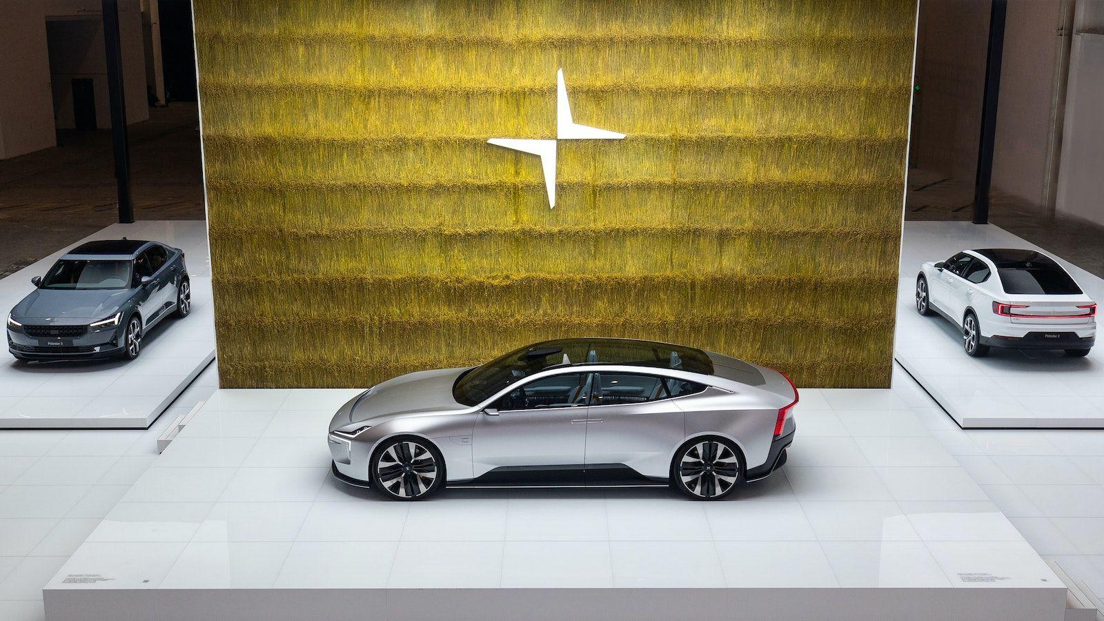Le stand événement de Polestar au salon de l'automobile de Pékin en 2020.