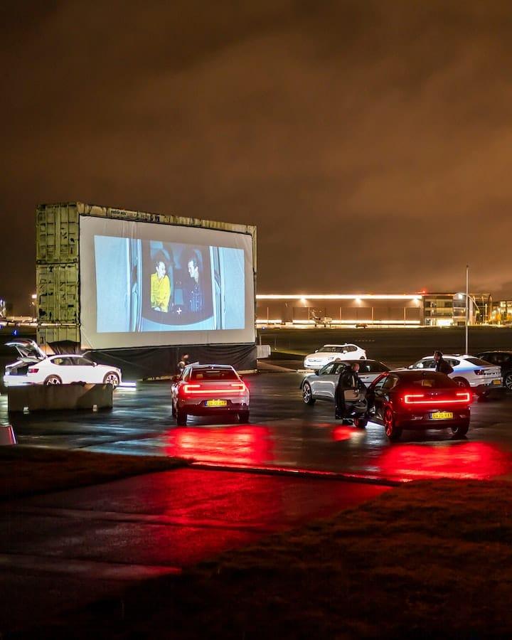 Polestar sponsors a fully electric drive-in cinema