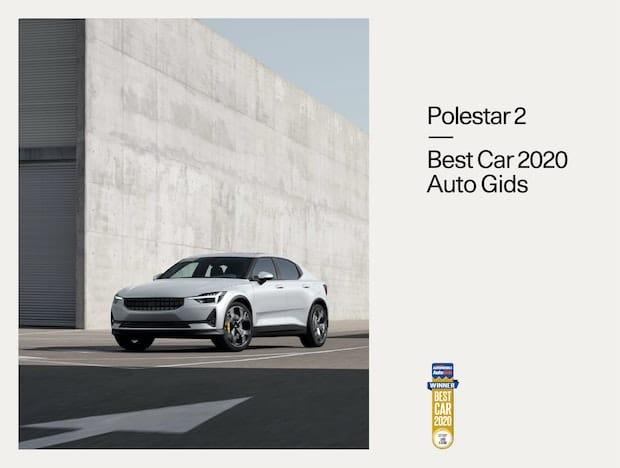 La Polestar 2 gagne le Best Electric Car Award 2020