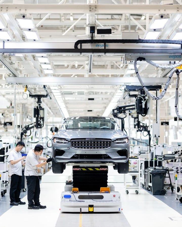 Les installations de production de la Polestar 1 à Chengdu, en Chine.