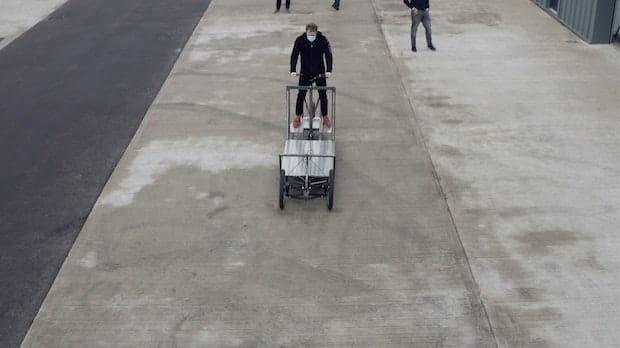 Premier essai du tricycle cargo Re:Move.