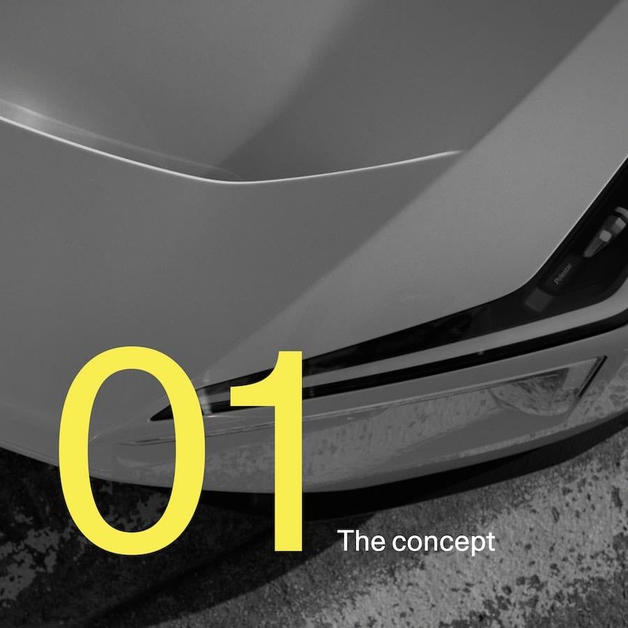 Een beeld uit de eerste aflevering van Polestar Precept: From Concept to Car.