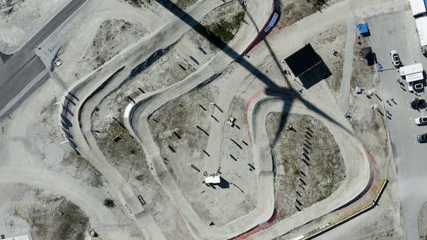 Het grindcircuit van de Gotland Ring.