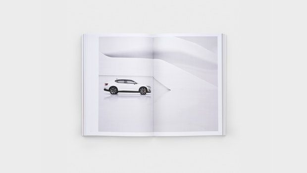 In our online shop you can buy a design book about the creation process of the Polestar 2 full electric.