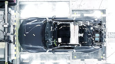 Polestar evaluates strength of carbon fibre in successful first crash test